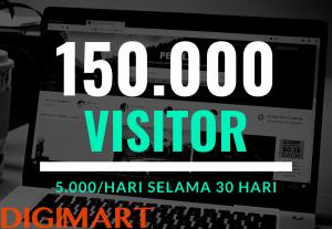 Traffic Dingin Berkualitas PREMIUM Ke Website Anda Hingga 600.000 Visitor/Bulan