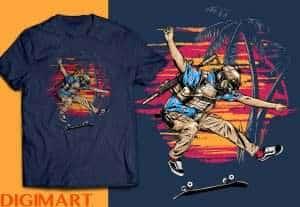 Desain T-shirt Tematik