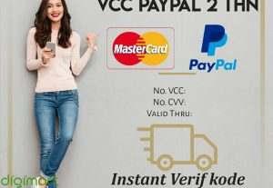 VCC Mastercard untuk verif Paypal 2 tahun