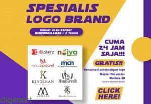 desain logo spesialis brand