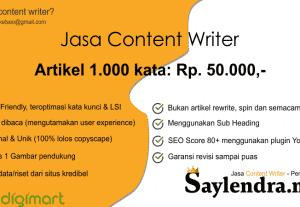 Content Writer – Penulis Artikel SEO