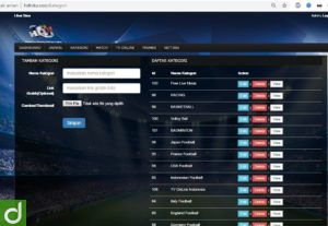 script TV sepakbola Streaming