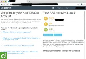 21635Akun AWS Educate Saldo $30 Masa Aktif 1 Tahun
