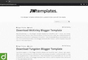 Postingan Template Blogger 2,5rb Database & Cara Pakai!