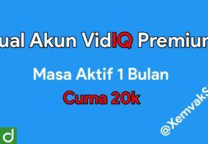 22073[TERMURAH] Akun VidIQ Premium Satu Bulan