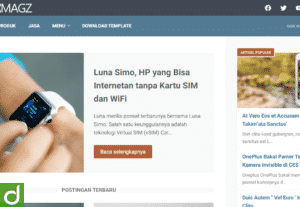 Template Blogger LinkMagz Terbaru Premium 100% Original