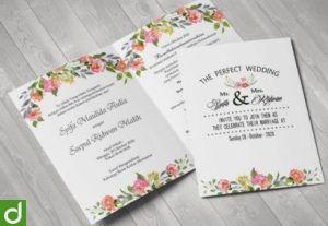 26282Template undangan pernikahan premium murah format psd