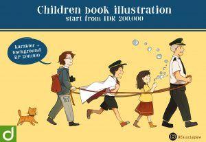 27062Ilustrasi / Cover Buku Anak untuk Komersil atau Personal