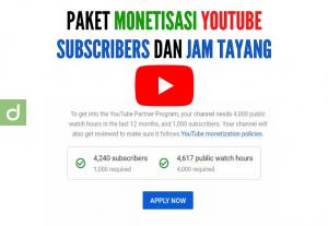46457Jasa Monetisasi Jam Tayang dan Subscribers Youtube
